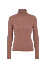 Basic Apparel ØKOLOGISK bluse m/turtleneck, BA9928 Alisia LS T-neck acorn