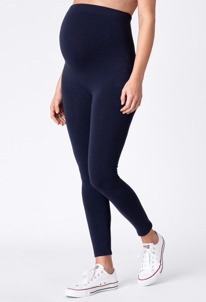 Bambus leggings i navy til gravid