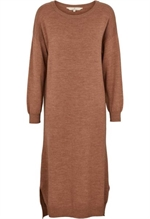Basic Apparel kjole i 100% merinould, BA9652 Vera Dress Warm Sand