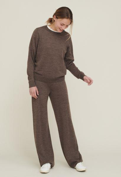 Vera Wide Pants i merinould fra Basic Apparel