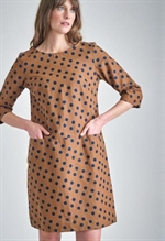 Bibico Josie Polka Dot Tunic Dress i toffee
