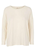 Bluse i tencel og whisper white fra Basic Apparel