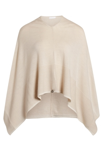 Claire Woman poncho i ULD, 71025 Paige poncho sand stone ONESIZE
