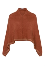 Claire Woman poncho med gulkant