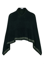 Claire Woman poncho, sort med guld