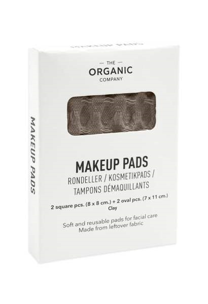 Make up rondeller i farven clay fra The Organic Company