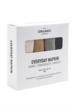 The Organic Company ØKOLOGISK stofserviet, Everyday Napkin earth colours 20x20 i 4-PAK