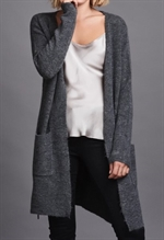 Önling lang cardigan, 75001 Chabel favorite cardigan dark grey