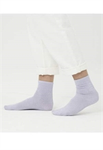 KnowledgeCotton Apparel ØKOLOGISKE glimmerstrømper, 830001 Honey glitter socks pastel lilac