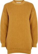 Kela Sweater i øko-bomuld og farven honey fra Basic Apparel