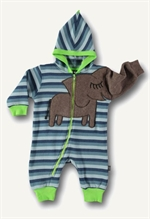 12. December: Ubang Babblechat elefantdragt i fleece, bl� striber