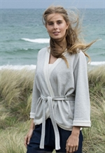 Serendipity wrap-bluse over i cardigan i 100% økologisk bomulds-sweat