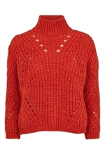 Tomatrød sweater fra Basic Apparel